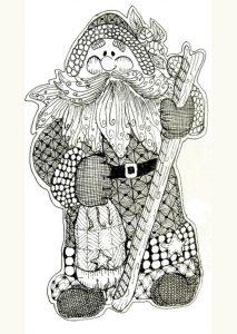 Ausmalbilder Erwachsene Weihnachtsmann, Bild 9